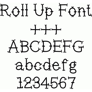 roll up font
