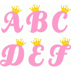 princess alphabet a-f