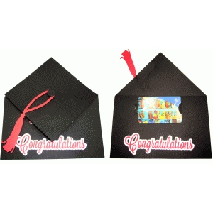 graduation cap giftcard holder card