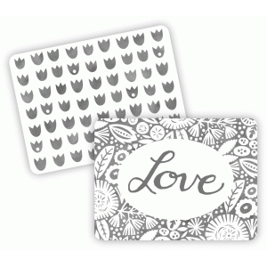 floral love journaling cards 3x4