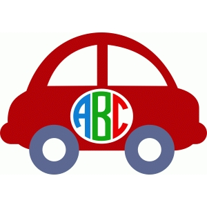 cute car monogram