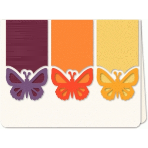 butterfly trio a6 card