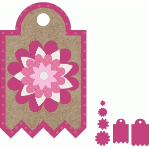 multilayered flower tag set