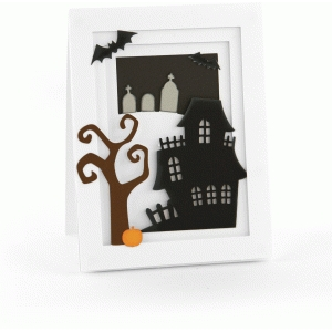a2 halloween scene pop dot card