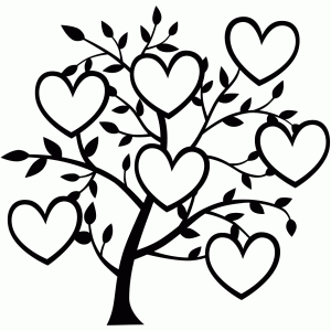7 heart family tree