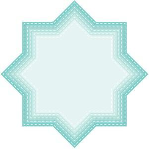 nested stitched deco stars