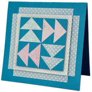 flying geese quilt block card