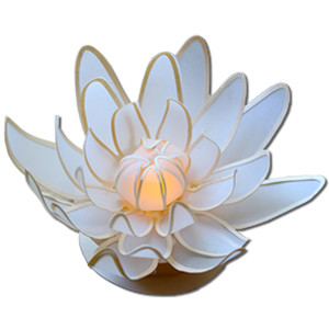 water lily votive candle (flameless)