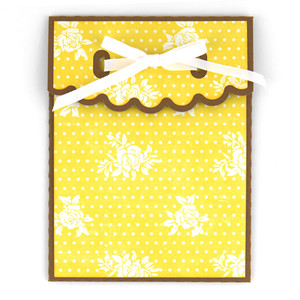 a2, 3x4, 4x6 large scallop ribbon tie envelopes