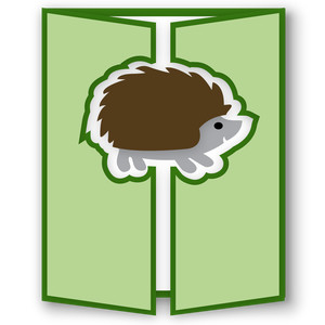 gatefold card - hedgehog