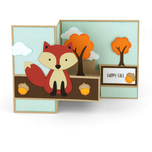 pop up box card fox