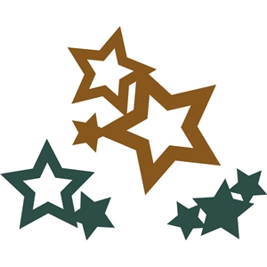 assorted welded stars