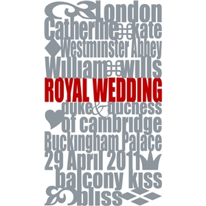 royal wedding subway art