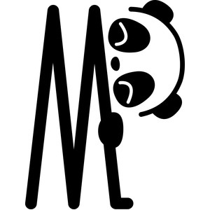 Silhouette design store view design 215755 panda letter m panda letter m thecheapjerseys Image collections