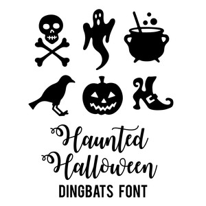 haunted halloween dingbats font