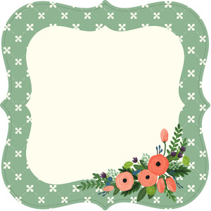 flat floral card