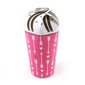 arrows and hearts treat cup