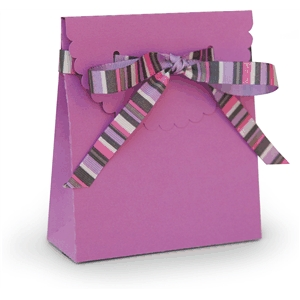 3d box ribbon tie scalloped flap box