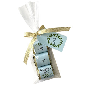 he is risen blue mini candy bar wraps