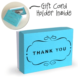 3d box gift card holder box - thank you