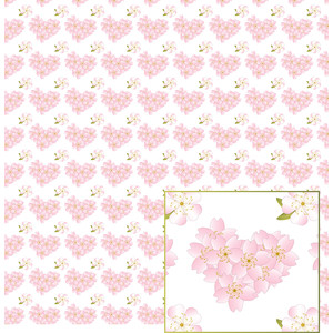 cherry blossom hearts pattern