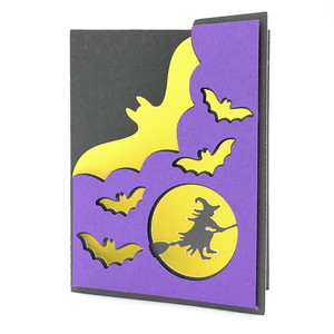 bats and witch card