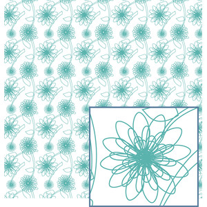 scribbled flowers pattern