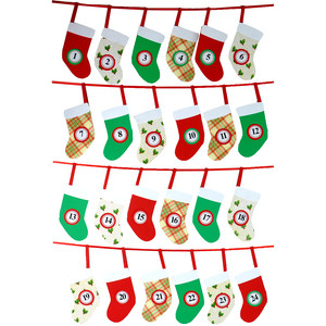 advent stockings calendar