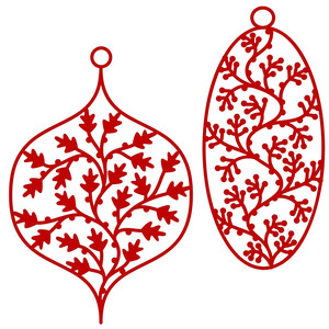 christmas baubles tags