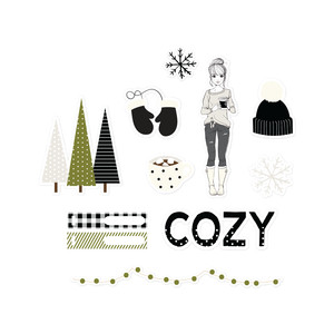 cozy christmas stickers