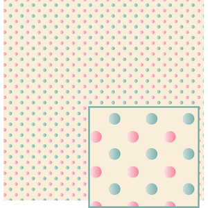 blue and pink raised polka dots pattern
