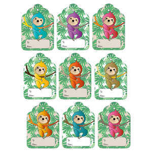 colorful sloth gift tags
