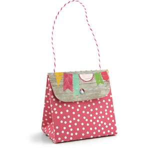 purse with bracket flap