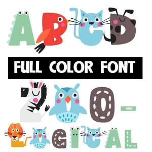 zoological color font