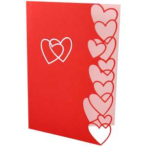 heart edged card