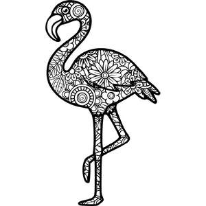 flamingo mandala zentangle