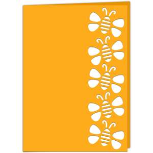 honeybee lace edged card