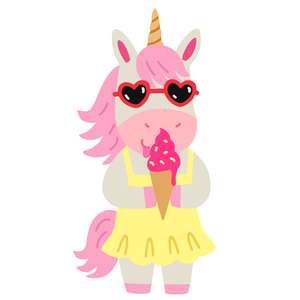 unicorn with ice cream