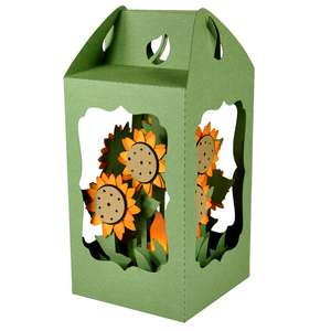 sunflower filled lantern