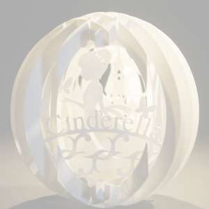 four layered pop up sphere cinderella