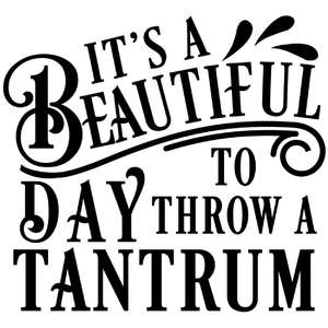 beautiful day to throw tantrum