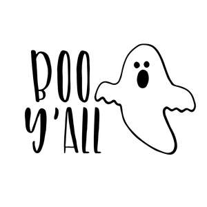 boo y'all halloween quote ghost