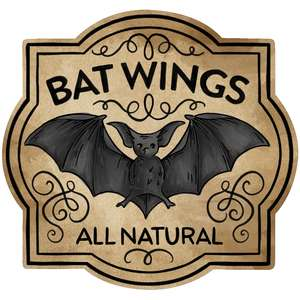 bat wings potion label
