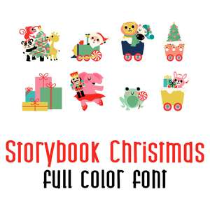 storybook christmas full color font