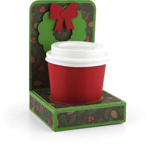 mini coffee cup holder wreath