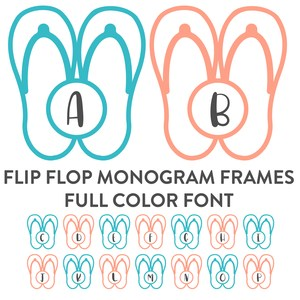 flip flop monogram frames full color font