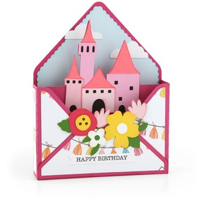 box card envelope castle