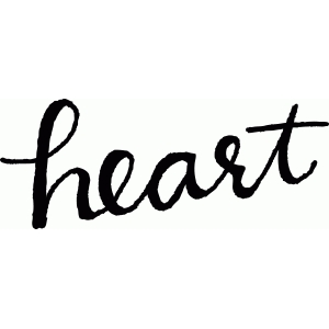 calligraphy heart word