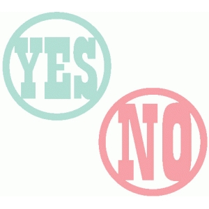 yes & no word buttons