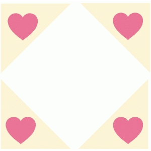 heart photo corners